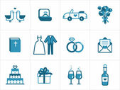 Wedding icons — Vecteur