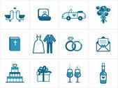 Icone di nozze — Vettoriale Stock
