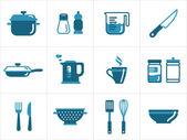 кухня значки — Cтоковый вектор
