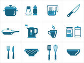 Kitchen icons — Stok Vektör