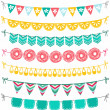 Stock Vector: Garland set