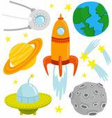 Space Set — Stock Vector