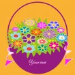 Pretty floral frame. vector illustration. — Stock Vector