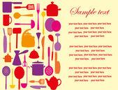 Cute kitchen pattern. vector illustration — Stock Vector