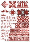 エスニック雑貨パターンと要素 — ストック写真