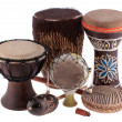 African ethnic drums from different countries — Stock Photo #10959669