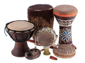 African ethnic drums from different countries — Stock Photo