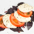 Stock Photo: Tomato, mozzarella, basil and pepper