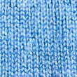 The texture of blue wool knit braid - Stock Photo
