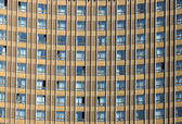 Windows of a multystoried hotel building — Stock Photo