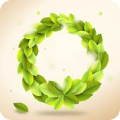 Green wreath — Foto Stock