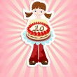 Royalty-Free Stock  : Girl with birthday cake
