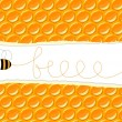Background with a bee — Vector de stock