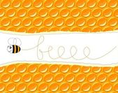 Background with a bee — Stockvector