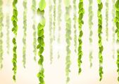 Abstract backround with green lianas and reflections — Stock Photo