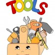 Tools in a toolbox — Stock Vector #11075263