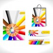 Shopping bag and banners — Stock Vector