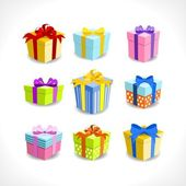 Various colorful gifts — Stock Vector