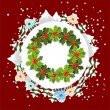 Royalty-Free Stock Vector Image: Winter background with christmas wreath - illustration