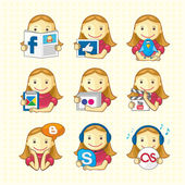 Design Elements - Set Of Social Icons — Stock Vector