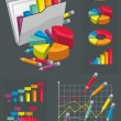 Infographic Set - Colorful Charts — Stock Vector