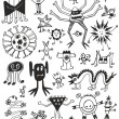 Royalty-Free Stock Vector Image: Cute Unusual Black And White Monsters