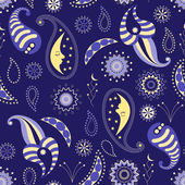 Seamless pattern of nocturnal — Stock Vector
