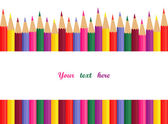 Colored pencils with space for text — Stock Vector