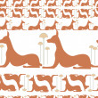 Dogs egypt vector — Stock Photo