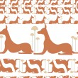 Dogs egypt vector - Stock Photo