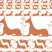 Dogs egypt vector — Stock Vector
