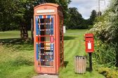 English Village Post and Phone Boxes — Stock Photo