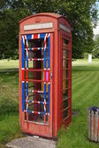 English Village Phone Box — ストック写真