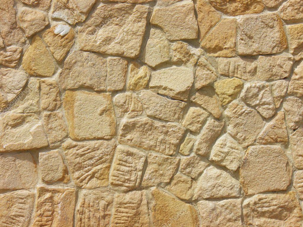 Piedra de la pared de una casa antigua foto de stock - Pared de piedra ...