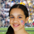 Girl With Flag - Stock Photo