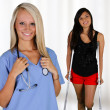 Nurse and Patient - Stock Photo