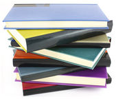 Pile of color books — Stock Photo