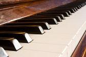 Keys of piano — Stock Photo