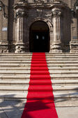 Red carpet — Stock Photo