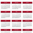 Red 2013 calendar — Stock Photo