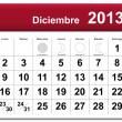 Royalty-Free Stock Vector Image: Spanish version of December 2013 calendar