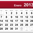 Royalty-Free Stock Vector Image: Spanish version of January 2013 calendar