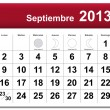 Spanish version of September 2013 calendar — Stock Vector
