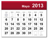 Spanish version of May 2013 calendar — Stock Vector