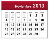 Spanish version of November 2013 calendar — Stock Vector