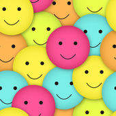 Seamless vector smileys — Stock Vector