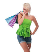 Kvinnor shopping — Stockfoto