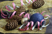 Christmas card with balls — Foto de Stock