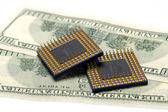 Processor on the money — Stock Photo
