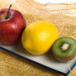 A photo of three fruits - Stock Photo